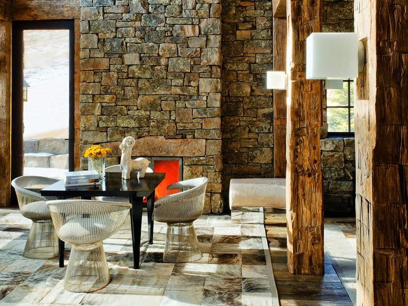 Ruangan Dengan Nuansa Batu Alam